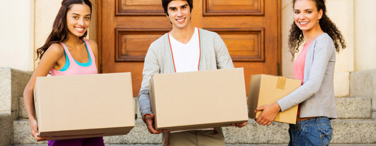 Students moving into their rental property